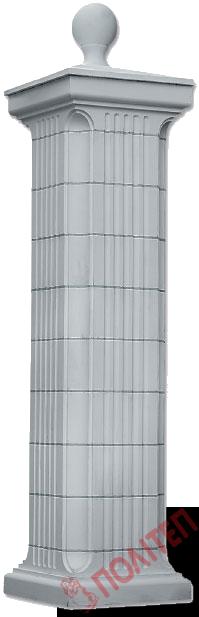 Декоративный столб из бетона купить цементный раствор уфа цены